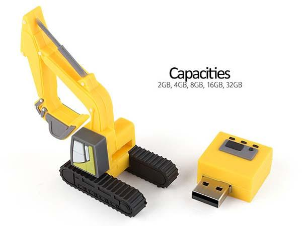 The Excavator USB Flash Drive