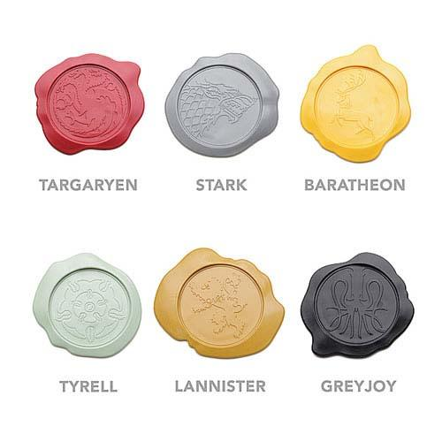 The Game of Thrones House Sigil Wax Seal Coaster Set