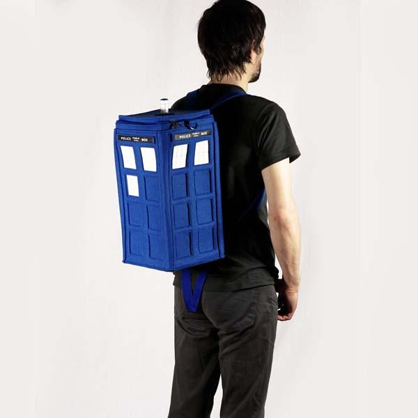 The Handmade Doctor Who TARDIS Backpack