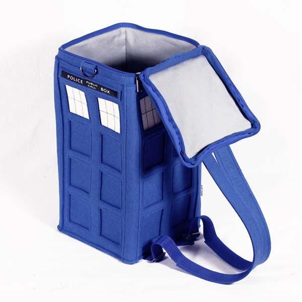 The Handmade Doctor Who TARDIS Backpack