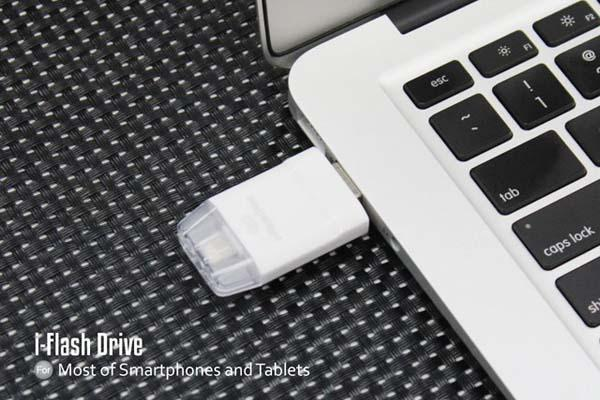 The i-FlashDrive USB Flash Drive for Lightning Enabled iOS Devices