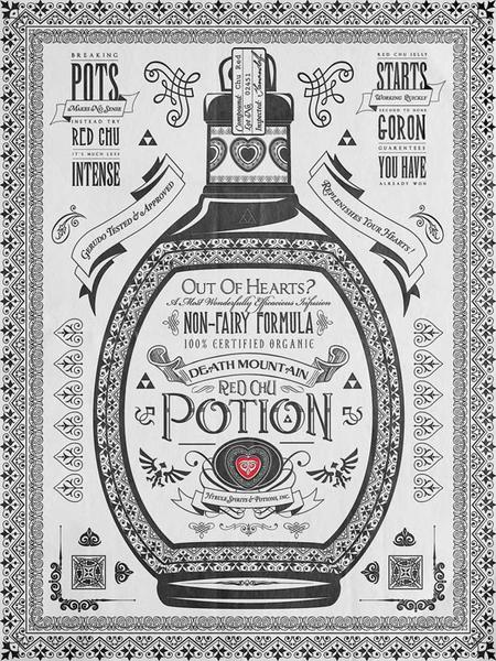 The Legend Of Zelda Three Potions Poster Set Gadgetsin