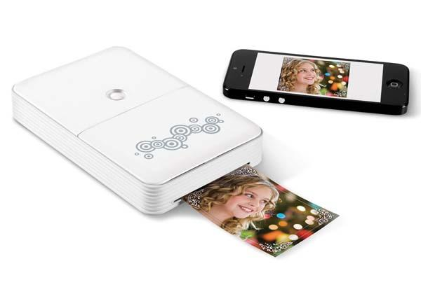 the portable wireless smartphone photo printer gadgetsin. Black Bedroom Furniture Sets. Home Design Ideas