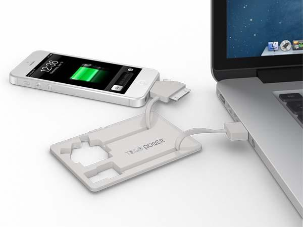 The PowerCard Wallet-Sized Portable Charger for Smartphones