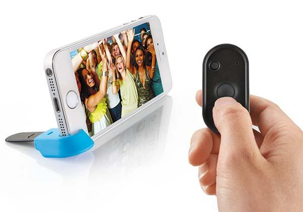 The Selfie Wireless Remote Shutter for iPhone and Android Phones
