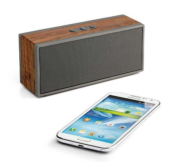 The Solid Walnut Portable Bluetooth Speaker