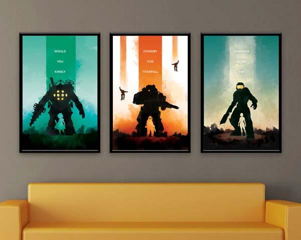 The Video Game Inspired Poster Set