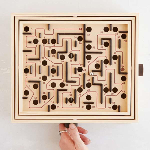 The Wooden Labyrinth Game