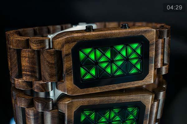 Tokyoflash Kisai Adjust Wood LED Watch