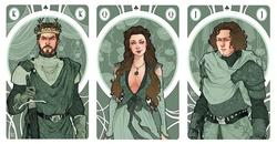 Amazing Game of Thrones Play Cards