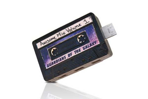 Guardians of The Galaxy Awesome Mixtape Volume 01 USB Flash Drive with Micro USB Connector