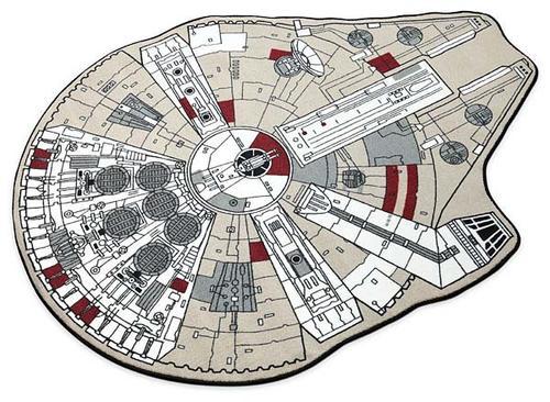 Star Wars Millennium Falcon Printed Rug