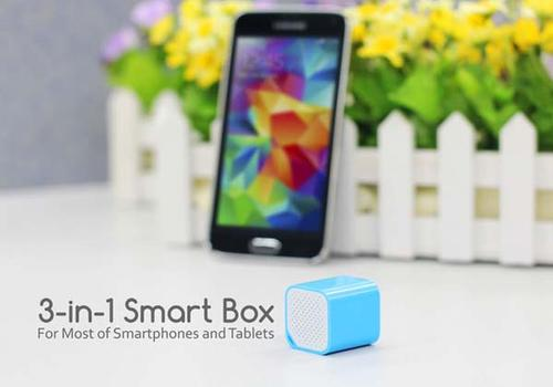 3-In-1 Smart Box Works as Mini Speaker Remote Shutter and Phone Locator