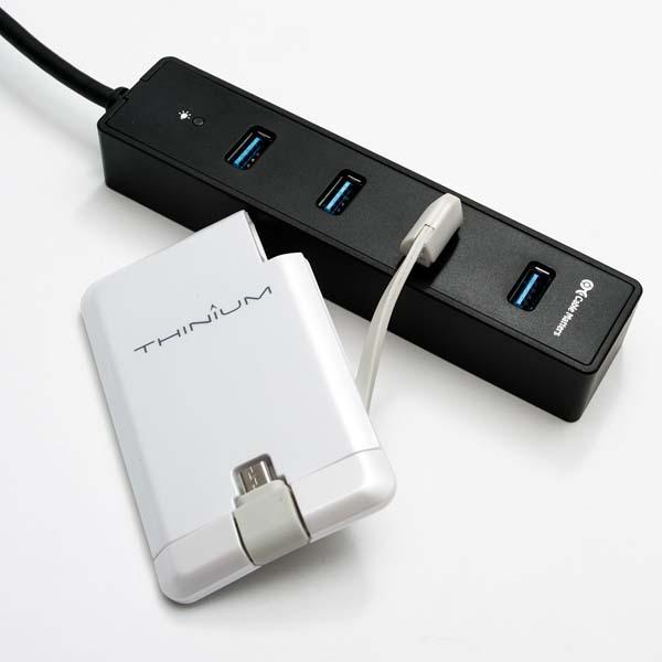 Thinium Charge Portable Wall Charger with MicroUSB or Lightning Connector