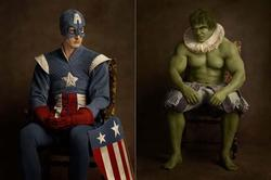 Awesome Flemish Superhero and Pop Culture Character Portraits