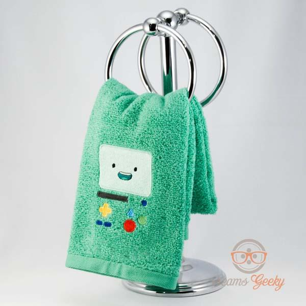 Adventure Time Inspired Embroidered Hand Towels