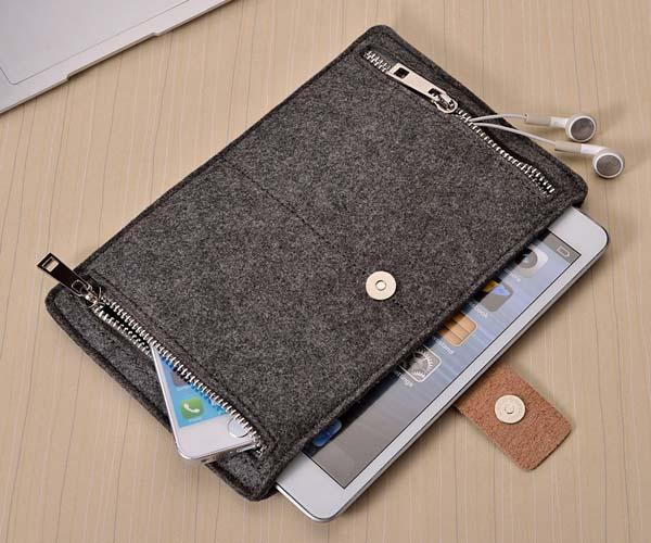 Autumn Felt iPad Air 2 Case with Two Zippered Pockets