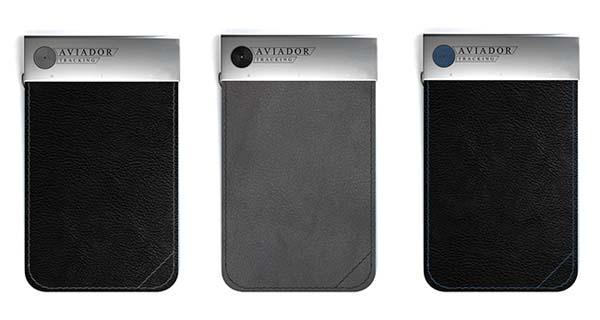AVIADOR Tracker Wallet with USB Driver, NFC and Panic Button