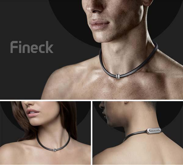 Fineck Smart Necklace Cares for Your Neck