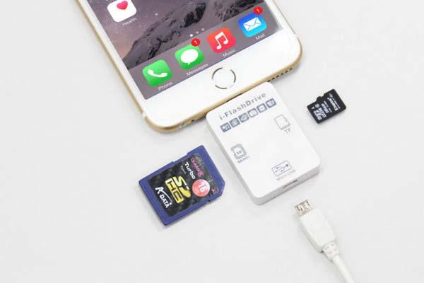 i-FlashDrive II Memory Card Reader for iPhone and iPad