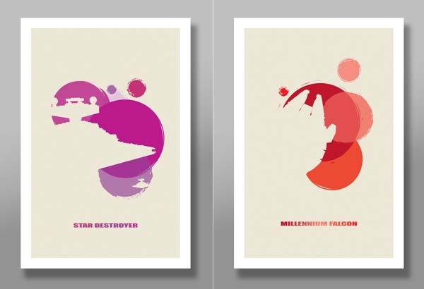 Star Wars Minimalist Movie Poster Set Gadgetsin