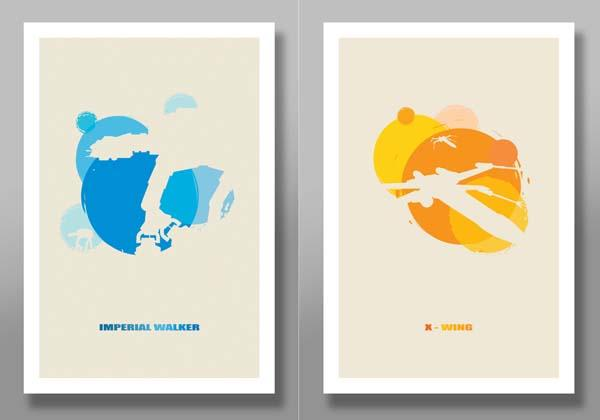 Star Wars Minimalist Movie Poster Set