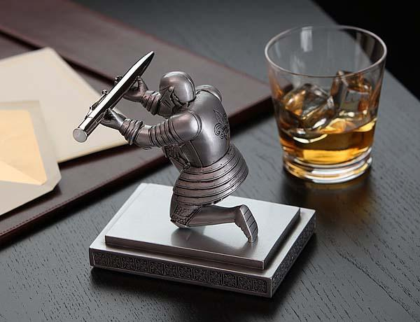 The Executive Knight Pen Holder