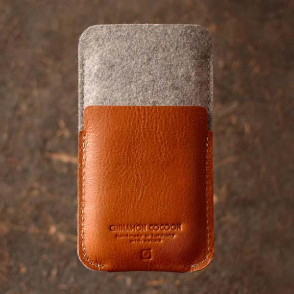 The Handmade Felt and Leather iPhone 6 Plus and iPhone 6 Cases