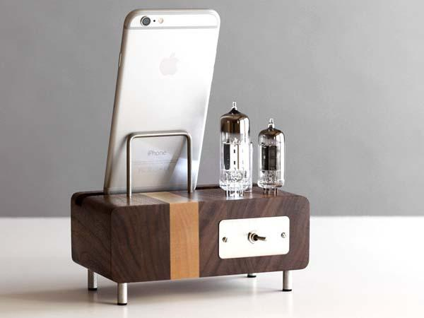 The Handmade Smartphone Charging Station with Triple Electron Tubes