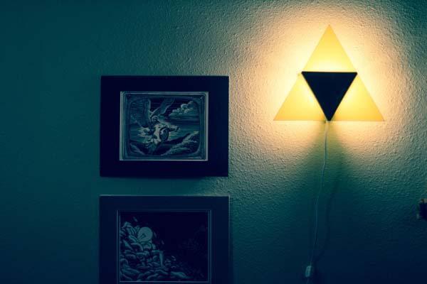 The Legend of Zelda Triforce Wall Lamp