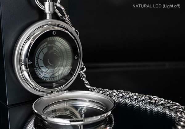 Tokyoflash Kisai Vortex LCD Pocket Watch