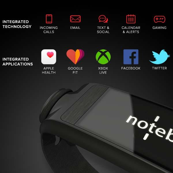 Uno Noteband Fitness Tracker with Notifier