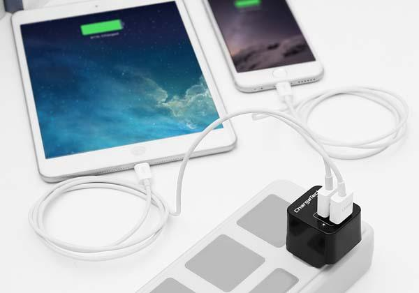 ChargeTech World's Smallest Phone Charger with two USB Ports