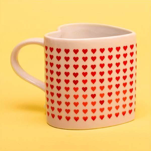Heat changing love coffee mug