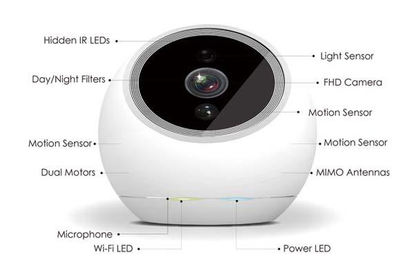 iCamPRO FHD Robotic Home Security Camera
