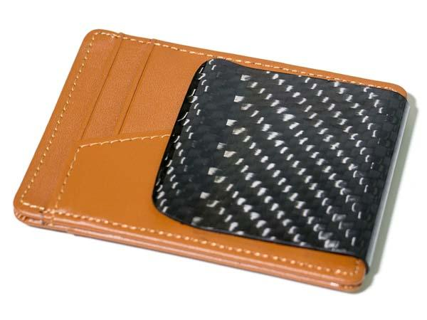 RC Fibers D15 Leather Wallet with Carbon Fiber Clip