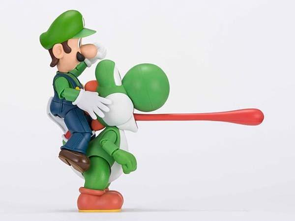 The Toy Store >> S.H. Figuarts Super Mario Yoshi Action Figure | Gadgetsin