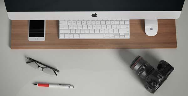 Tamn Wooden Desk Organizer for iMac