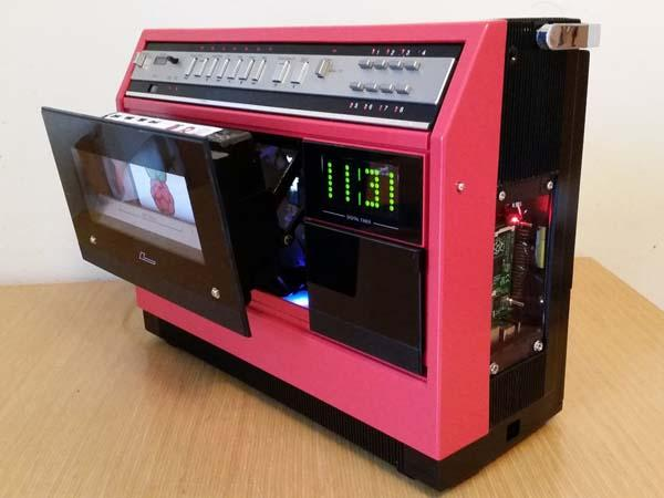 The 1981 Portable VCR Media Center Powered by Raspberry Pi