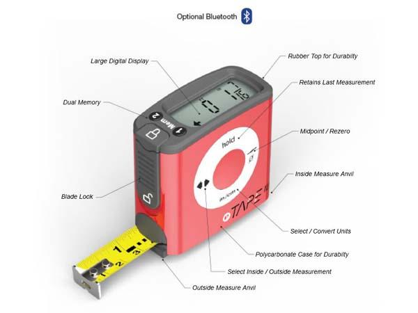 The eTape16 Digital Tape Measure with Optional Bluetooth