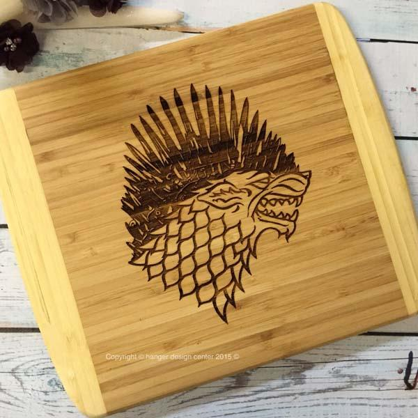 The Handmade Customizable Game of Thrones Cutting Board