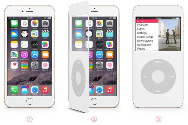 The Smart Cover Brings iPod Classic Wheel on Your iPhone 6/6 Plus