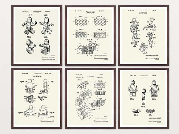 The Ultimate Blue Print Styled LEGO Poster Set
