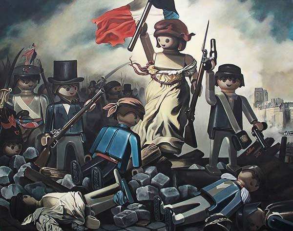 When Classic Paintings Meet Playmobil Figurines