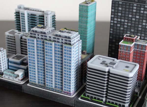 Build A Mini City by 3D Printing