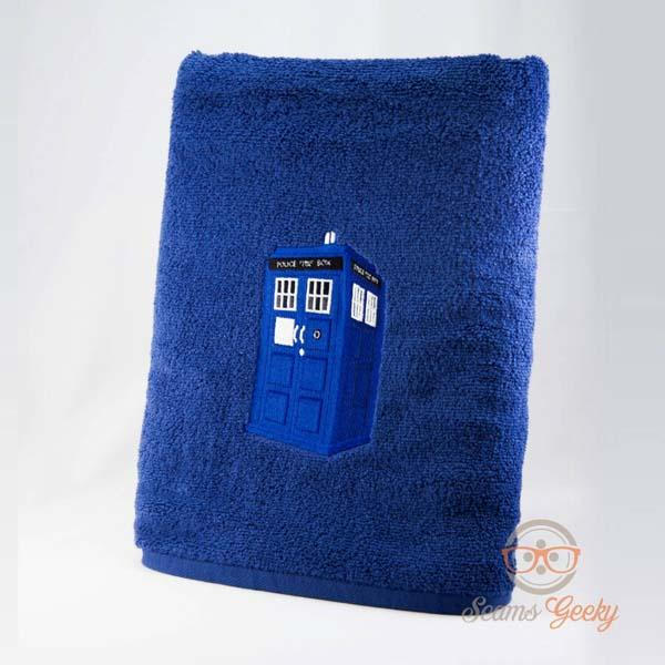 Doctor Who TARDIS and Dalek Embroidered Bath Towels