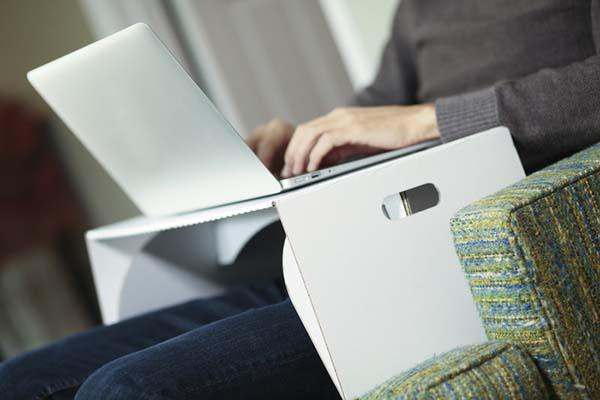 Lapdesk An Eco-Friendly Collapsible Laptop Lap Desk