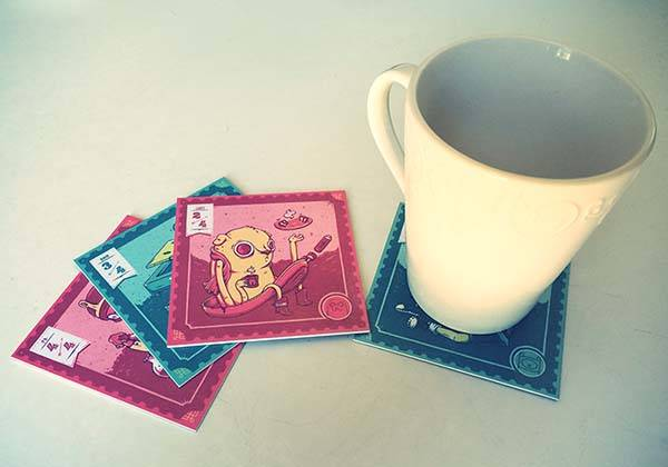 Make Adventure Time Drink Coasters by Yourself