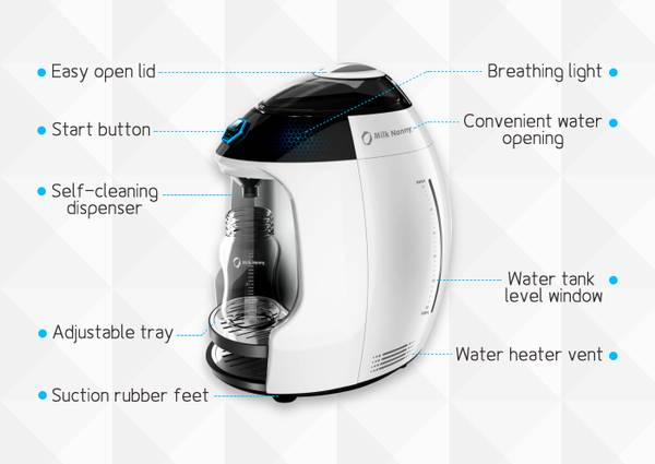 Milk Nanny The World's First Smart Formula Milk Maker
