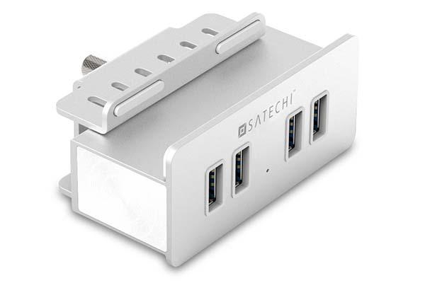 Satechi Aluminum Clamp USB Hub with 4 USB 3.0 Ports